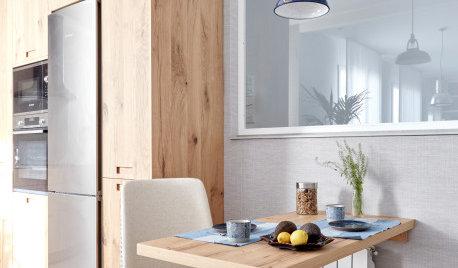 De cocina aburrida a espacio versátil con un coqueto comedor