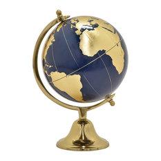 "Globe Without Border, Gold, 18.5"""