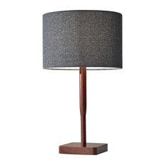Ellis Table Lamp, Walnut Rubberwood