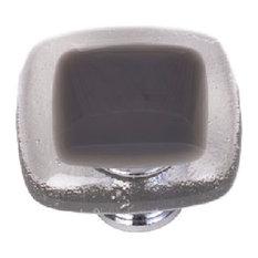 Reflective Slate Grey Knob, Polished Chrome Base