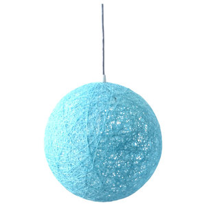 Sphere Modern Pendant Light, Blue, Medium