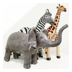 Jet Creations Inflatable Safari 3 Pack, Giraffe, Zebra, Elephant