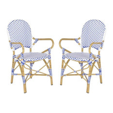Hooper Stacking Armchair in Blue and White - Set of 2