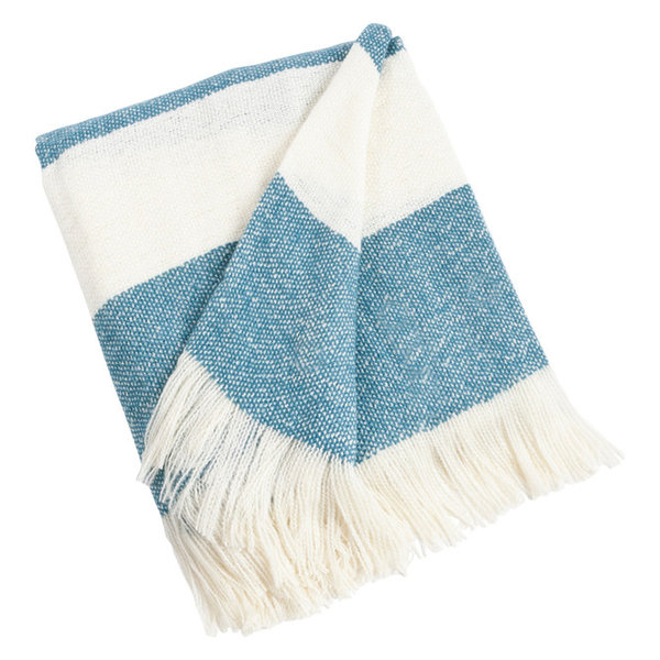 Chic Striped Design Throw Blanket, 50