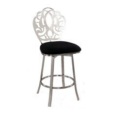 Laser Cut Back Memory Back Swivel Counter Stool 0404-CS