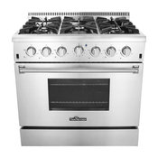 """36"""" Professional Style Stainless Steel Gas Range, Natural Gas"""