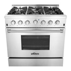 "36"" Professional Style Stainless Steel Gas Range, Natural Gas"