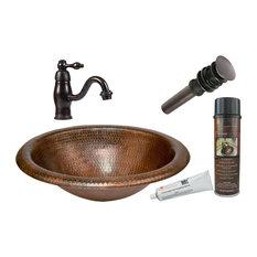 Wide Rim Oval Self Rimming Hammered Copper Sink