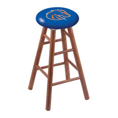 Oak Counter Stool Medium Finish With Boise State Seat 24-inch