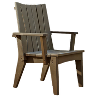 Hourglass Dining Chair With Arms, Natural