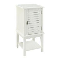 Powell Aqua Shutter Door Table 268-351, White