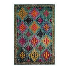 Lunya Woven Rug, Blue and Multicoloured, 200x279 cm