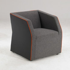 INSIDE 75 - fauteuil design INVADER gris - Fauteuil