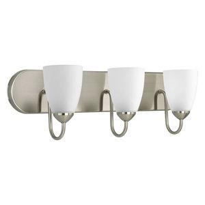 Progress Lighting P2708-09EBWB Gather 3 Light Bathroom Light In Brushed Nickel