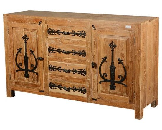 teak wood rustic sideboard metal accent storage cabinet buffet buffets and sideboards
