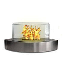 Lexington Tabletop Fireplace, Stainless Steel