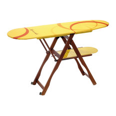Sicistiro Beech Ironing Board With Shelf