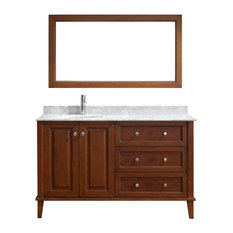 Lily Vanity 55'' Set, Cherry and Natural Carrera