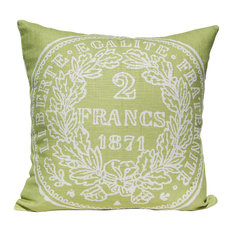 French Coin Pillow, Green