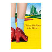 """""""The Wizard of Oz, Yellow Brick Road and Red Shoes"""" Print, 12""""x18"""""""