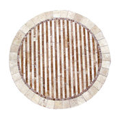 """Bamboo Mosaic Stone Round Coffee Table, 36"""""""