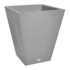 "Pro Series Linear Grooved Planter, 30"", Gray"