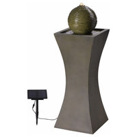 """Kenroy Home 51014 Bubble 39-1/2"""" Tall Solar Powered Integrated LED Outdoor Floo"""