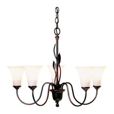Hubbardton Forge (103052) 5 Light Forged Leaf Chandelier