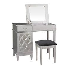 Off White Makeup Vanity. Linon Home Decor Products  Lattice Vanity Set Bedroom Makeup Vanities Most Popular and for 2018 Houzz