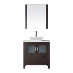 "Dior 32"" Single Bathroom Vanity Cabinet Set, Espresso"