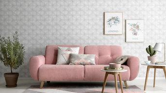 Tapete | Grafik mit Farbverlauf - Kollektion My Garden