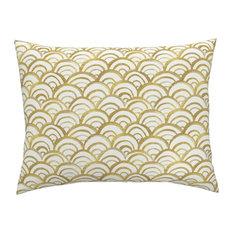 Mermaid Gold Gold Mermaid Cotton Pillow Sham, Standard