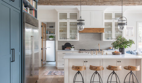 Kitchen of the Week: Creamy White, Rustic Wood and Blue