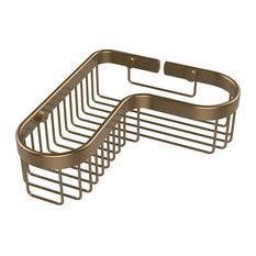 Corner Toiletry Shower Basket, Brushed Bronze