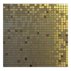 """11.38""""x11.38"""" Peel and Stick Backsplash Tile, """"Golden Crown"""", Single Tile"""