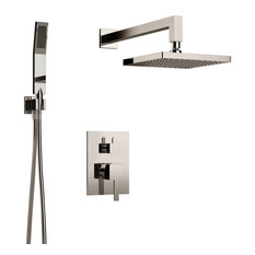 Inolav - Holden Shower Set for 2, All Inclusive, Individual Functions, Brushed Nickel - Showerheads and Body Sprays