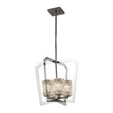 "Justice Design Group GLA-8014-16-CLRT-LED4-2800 Veneto Luce Single Light 18"" Wi"