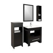 "Masselin 32"" Single Bathroom Vanity Cabinet Set in Espresso"