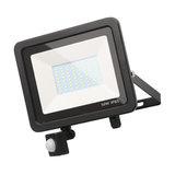 Langton Outdoor 50 W LED Slimline Flood Light With PIR Sensor, Black, Large
