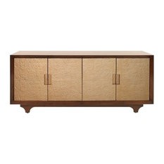 Worlds Away Nicholas Four Door Cabinet, Gold