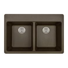 Kitchen Topmount Sink Double Equal Bowl AstraGranite