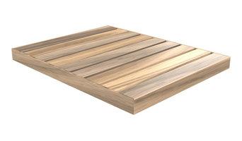 Okume Wood Outdoor Shower Base