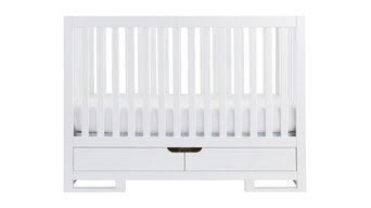 OSLO Convertible Crib With Drawers, Pure White