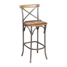 VidaXL Solid Reclaimed Wood Bar Chair, 45x45x110 cm