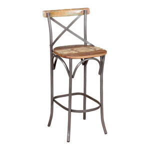 VidaXL Solid Reclaimed Wood Bar Chair, 45x45x110 cm
