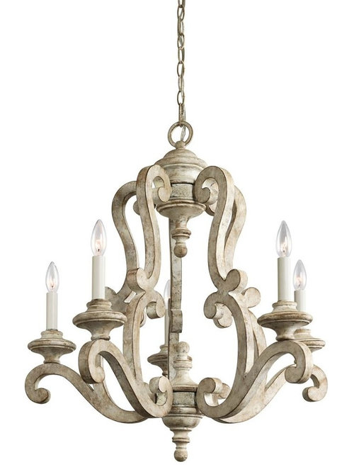 Traditional French Country Antique White Distressed Chandeliers – Distressed Chandeliers