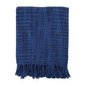 "Striped Tori Throw, Cobalt Blue, 49""x59"""