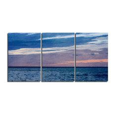 Ready2HangArt Indoor/Outdoor 3 Piece Wall Art Set 'Horizon Hues' in ArtPlexi