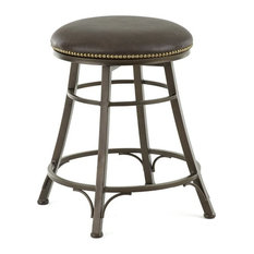 Bowery Hill Leather 24-inch Swivel Counter Stool