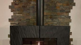 Installation poêle à bois Fonte Modèle Gaya Ardoise